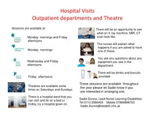 Hospital Visits Outpatient departments and Theatre