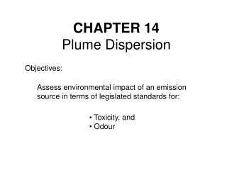 CHAPTER 14 Plume Dispersion