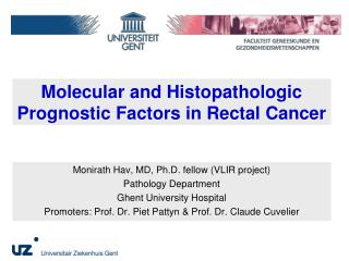 Molecular and Histopathologic Prognostic Factors in Rectal Cancer