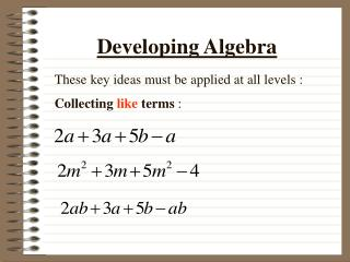 Developing Algebra
