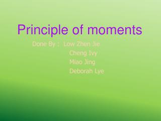 Principle of moments