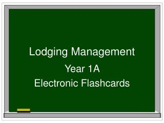 Lodging Management