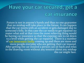 car insurance india