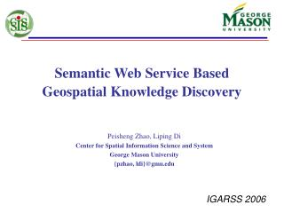 Semantic Web Service Based Geospatial Knowledge Discovery