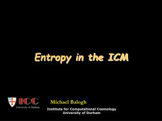 Entropy in the ICM
