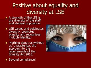 Positive about equality and diversity at LSE