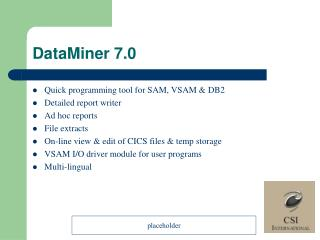 DataMiner 7.0