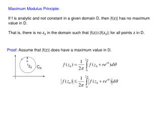 Maximum Modulus Principle: