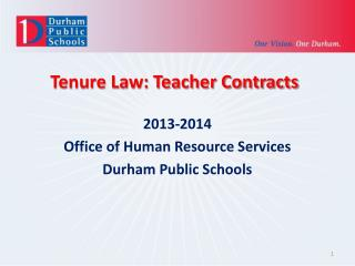 Tenure Law: Teacher Contracts