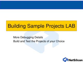Building Sample Projects LAB