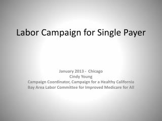 Labor Campaign for Single Payer