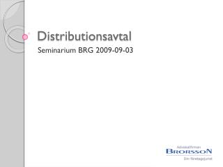 Distributionsavtal
