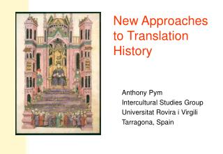 New Approaches to Translation History