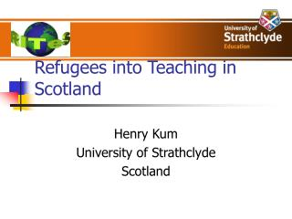 Refugees into Teaching in Scotland