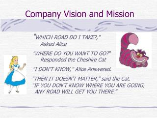 Company Vision and Mission