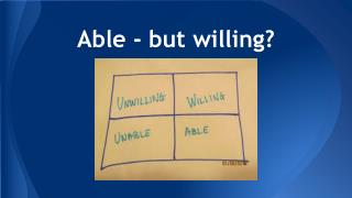 Able - but willing?