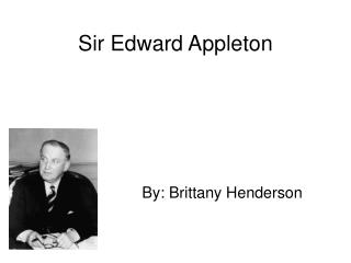 Sir Edward Appleton