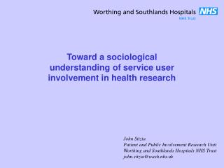 Toward a sociological understanding of service user involvement in health research