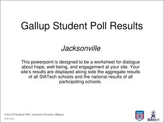 Gallup Student Poll Results