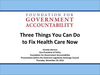 Three Things You Can Do to Fix Health Care Now