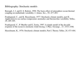 Bibliography: Stochastic models