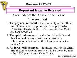 A reminder of the 3 basic principles of  ' the remnant '
