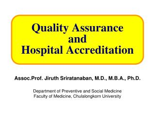 Quality Assurance and Hospital Accreditation