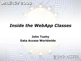 Inside the WebApp Classes