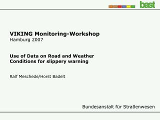 VIKING Monitoring-Workshop Hamburg 2007