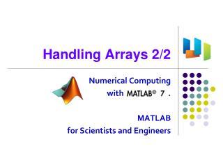 Handling Arrays 2/2