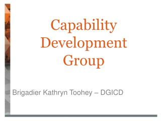 Capability Development Group