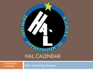 HAL Calendar
