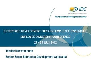 Tendani Nelwamondo  Senior Socio-Economic Development Specialist