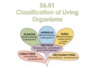 06.01 Classification of Living Organisms