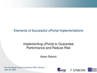 Elements of Successful uPortal Implementations
