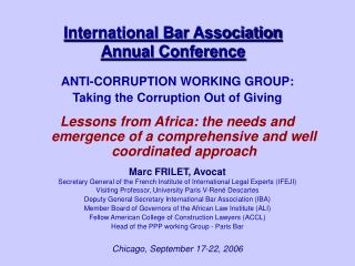 International Bar Association Annual Conference