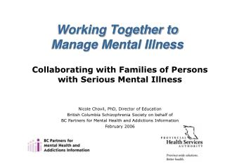 Collaborating with Families of Persons with Serious Mental Illness