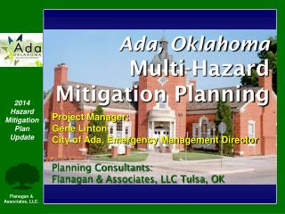 Ada, Oklahoma  Multi-Hazard Mitigation Planning