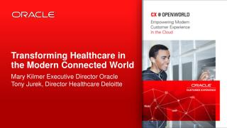 Transforming Healthcare in the Modern Connected World