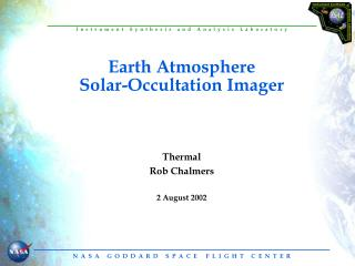 Earth Atmosphere Solar-Occultation Imager