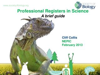 Professional Registers in Science A brief guide