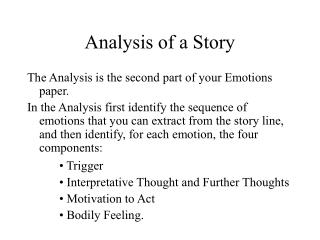 Analysis of a Story