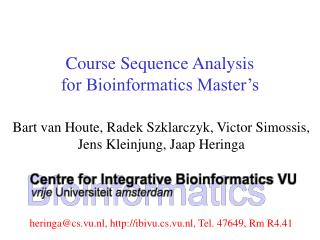 Course Sequence Analysis for Bioinformatics Master's