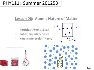 PHY111: Summer 201253