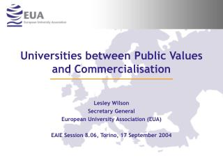 Universities between Public Values and Commercialisation