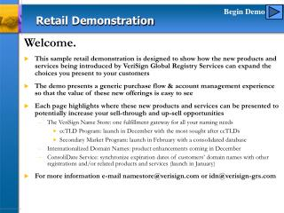 Retail Demonstration