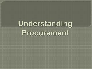Understanding Procurement