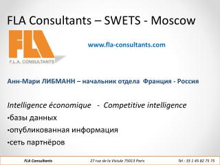 FLA Consultants – SWETS - Moscow