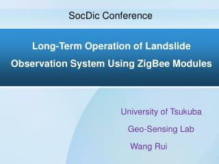 Long-Term Operation of Landslide Observation System Using ZigBee Modules