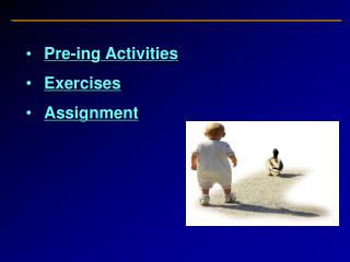 Pre-ing Activities Exercises Assignment